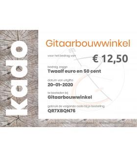 Gitaarbouwwinkel.nl - Geschenkgutschein im Wert von €12,50