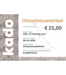 Gitaarbouwwinkel.nl - Geschenkgutschein im Wert von €25,-