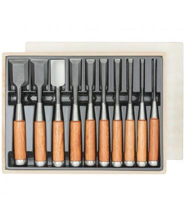 Hattori® Japanse beitels set van 10