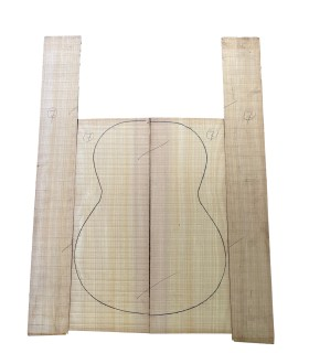 Spanish Cypresse back and sides set 7 for flamenco guitar