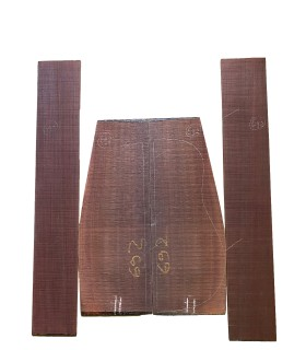 Indisch palissander zij- en achterblad set 692 voor akoestisch gitaar