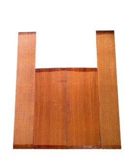 Padouk zij- en achterblad set 14 voor akoestisch gitaar